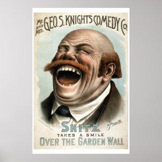 Poster van het Theater van Co van de Komedie van h