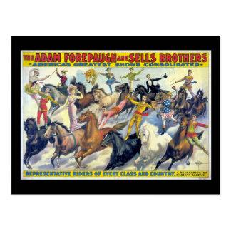 Poster van het Theater van de Ruiters van het Briefkaart