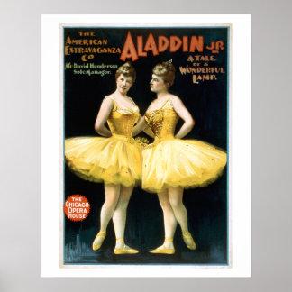 Poster van het Theater van Jr van Aladdin het Vint