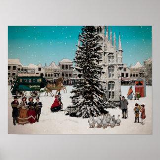 Poster Winter in Gouda