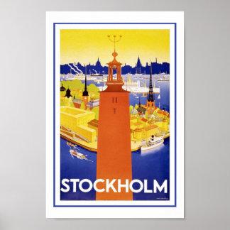 Posters van de Reis van Stockholm Zweden Europa de