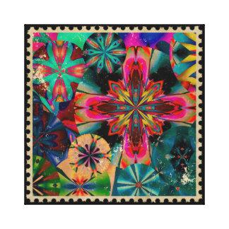 Postzegel 1 stretched canvas afdrukken