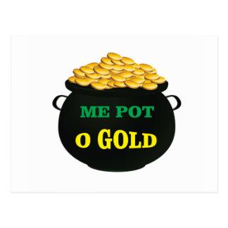 pot van gouden schatpot briefkaart