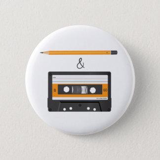 Potlood & Compacte Cassette Ronde Button 5,7 Cm