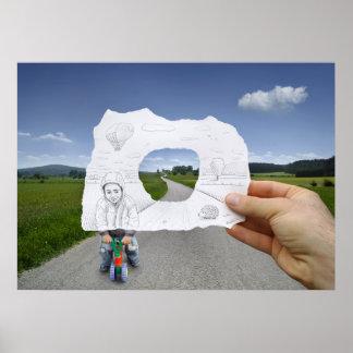 Potlood versus Camera - het Spelen van het Kind Poster