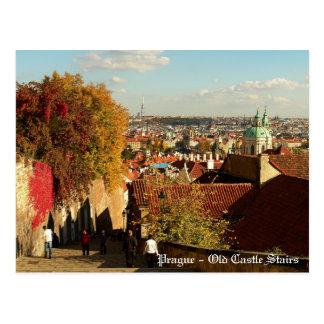 Praag - het Oude Briefkaart van de Treden van het