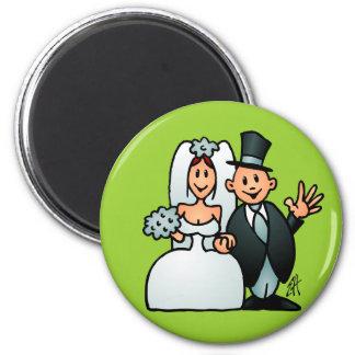 Prachtig Huwelijk Ronde Magneet 5,7 Cm