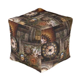 Prachtig steampunkontwerp vierkant zitkussen