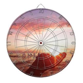 Prachtige en Ongelooflijke Zonsondergang in de Dartbord