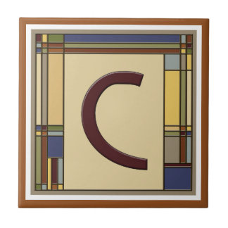 Prachtige Kunsten & Ambachten Geometrisch Keramisch Tegeltje