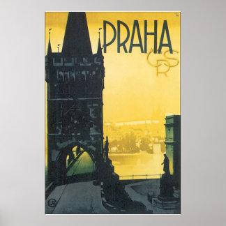 Praha het Vintage Poster van de Reis