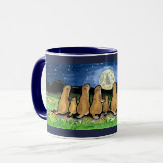 Prairiehonden die Mok van het Ontwerp van de Maan