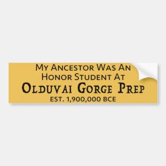 Prep de Kloof van Olduvai Bumpersticker