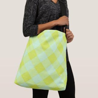 Preppie*-Pool-House-Argyle-Lime-Blue-Totes-Bags Crossbody Tas