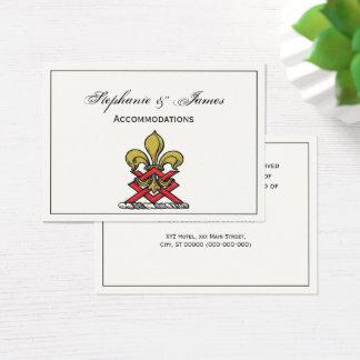 Preppy Gouden Rood Heraldisch CREST Fleur DE Lis Visitekaartjes