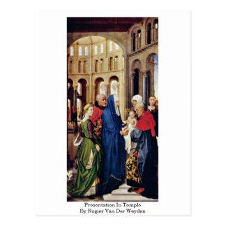 Presentatie in Tempel door Rogier van der Weyden Briefkaart