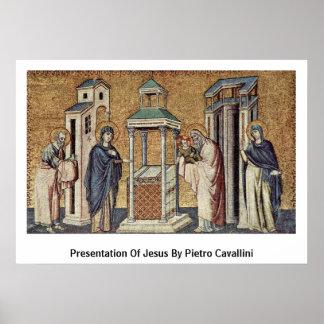 Presentatie van Jesus door Pietro Cavallini Poster
