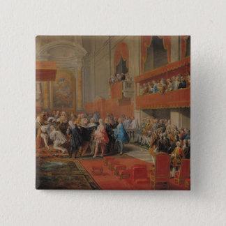 Presentatie van Orde van Heilige Geest aan Prins Vierkante Button 5,1 Cm