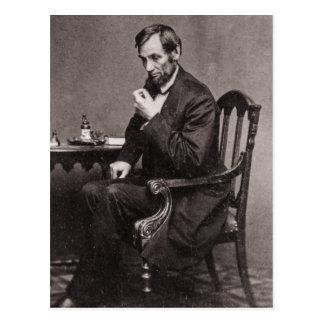 PRESIDENT ABRAHAM LINCOLN 1862 STEREOVIEW BRIEFKAART