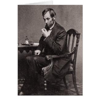 PRESIDENT ABRAHAM LINCOLN 1862 STEREOVIEW BRIEFKAARTEN 0