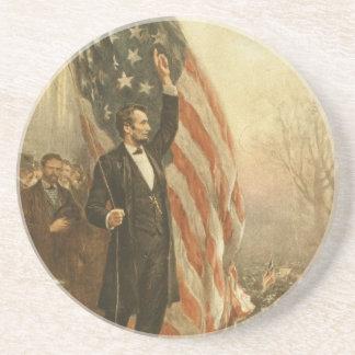 President Abraham Lincoln onder de Amerikaanse Zandsteen Onderzetter