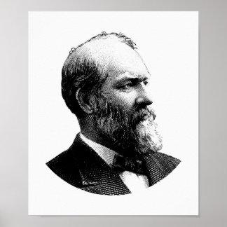 President James Garfield Graphic Poster