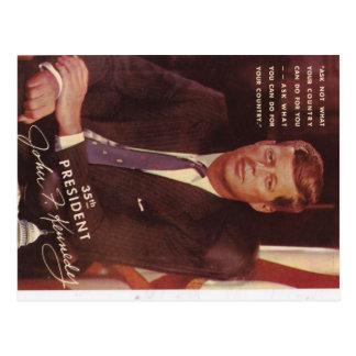President JFK Kennedy Briefkaart