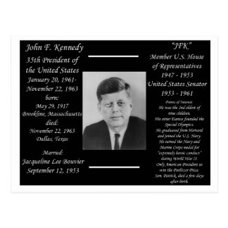 President John F Kennedy Briefkaart