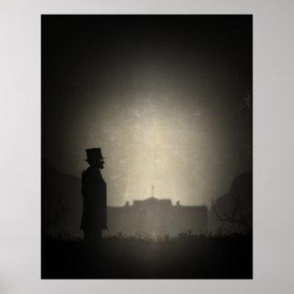 President Lincoln in Voorgeborchte der hel Poster