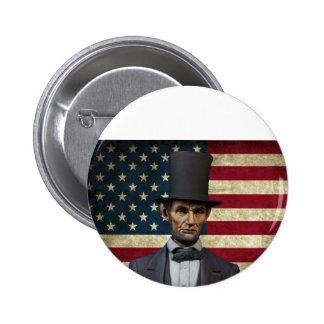 president Lincoln Ronde Button 5,7 Cm