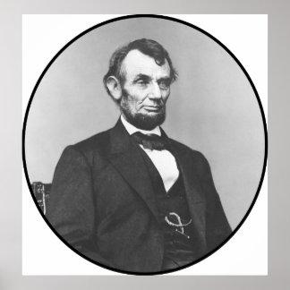 President Lincoln tijdens de Burgeroorlog Poster