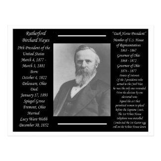President Rutherford B Hayes Briefkaart