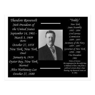 President Theodore Roosevelt Briefkaart