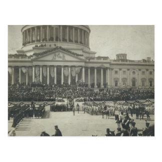 President Theodore Roosevelt die Eed van Kantoor Briefkaart