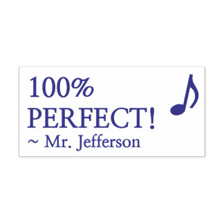 """Pret """"100% PERFECTIONEERT!"""" + De Naam van de Zelfinktende Stempel"""