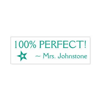 """Pret """"100% PERFECTIONEERT!"""" De RubberZegel van de Zelfinktende Stempel"""