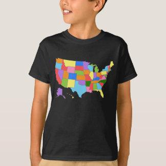 Pret en de Kleurrijke Kaart van de Regenboog van T Shirt