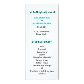 Pret en het Moderne Programma van het Huwelijk 10,2x23,5 Uitnodiging Kaart