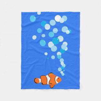 Pret en Leuke Clownfish en Bellen Fleece Deken