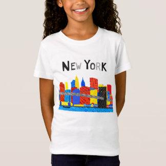 Pret, Speelse Illustratie van de Horizon van T Shirt