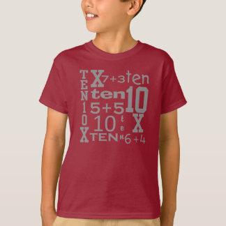 PRET Tien het WISKUNDE Geïnspireerde 10de T-shirt