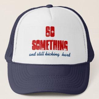 Pret Verjaardag 60 iets Blauw Rood Trucker Pet