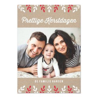 Prettige Kerstdagen | Kerstkaart 12,7x17,8 Uitnodiging Kaart