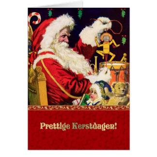 Prettige Kerstdagen. Nederlandse Kerstkaarten Wenskaart