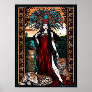 Priestess van Quetzal van Jaguar van Toltec het Poster