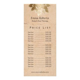 Prijslijst van Lotus van de vintage Therapie van 10,2x 22,9 Cm Reclamekaart