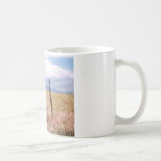 Prikkeldraad en post koffiemok