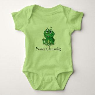 Prins die de Zoete Groene Kikker van het Baby Romper