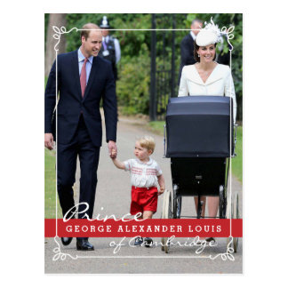 Prins George - Prinses Charlotte - William Kate Briefkaart