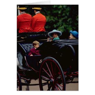 Prins William en Prinses Diana op de Wandelgalerij Briefkaarten 0